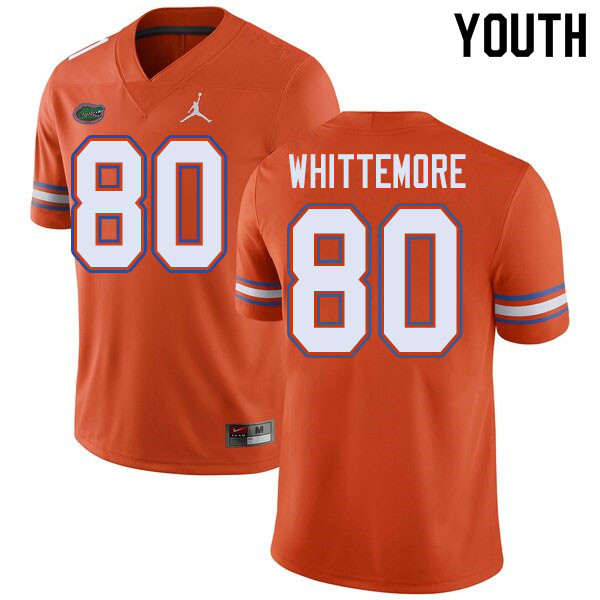Jordan Brand Youth #80 Trent Whittemore Florida Gators College Football Jerseys Sale-Orange